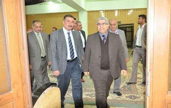 زيارة السيد رئيس جامعة القادسية الى كلية الطب