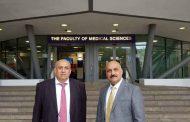 (أ.م.د. حسن راجي جلاب) و (أ.م.د. أوس رسول حسين) يزوران جامعة نيوكاسل للتباحث والتشاور حول تطوير العلاقات الأكاديمية مع كليتنا