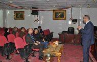 (م.د. أسعد عبد الحسين الشوك) يقيم ندوة علمية حول الجثث البلاستينية