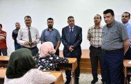 السيد رئيس جامعة القادسية المحترم (أ.د. كاظم جبر الجبوري) يزور كليتنا لتفقد سير الامتحانات النهائية
