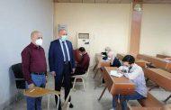 السيد العميد (أ.د. ناهض رؤوف العمار) يتفقد سير الامتحانات الحضورية في الكلية